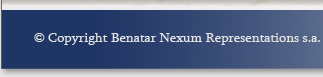 Copyright Benatar Nexum Representations s.a.